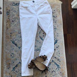 Gap white curvy stretch jeans